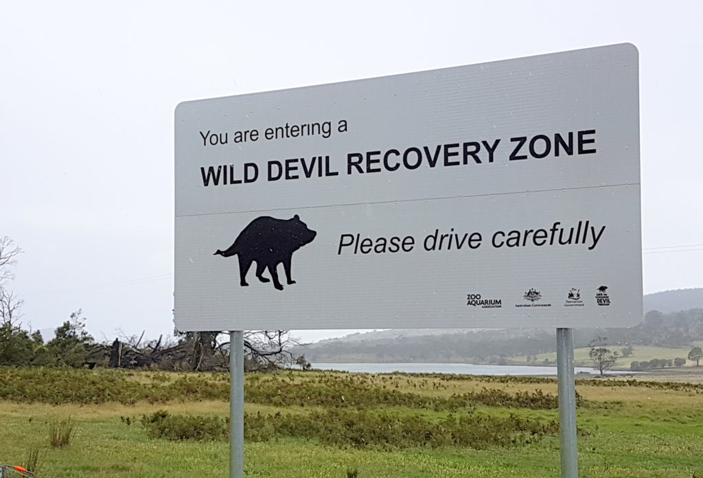 sign for Gateway to Devil Conservation Project